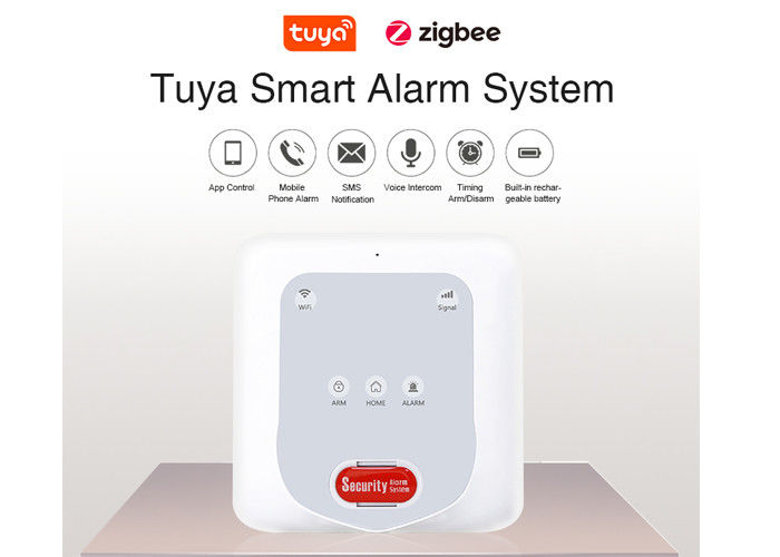 Home Anti Burglar Wireless Security Alarm System WIFI GSM Compatible With Zigbee Sensors