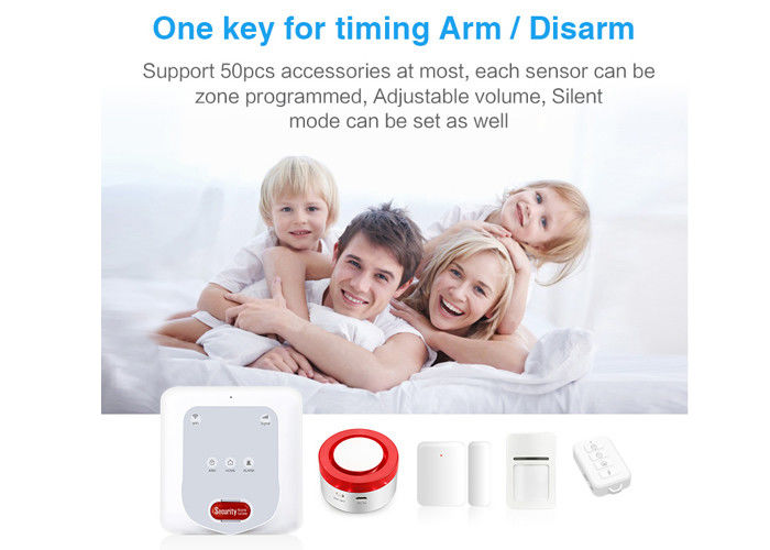 2.4Ghz  Wireless Security Alarm System Gsm Wifi Zigbee Wifi Siren With Door Pir Sensors